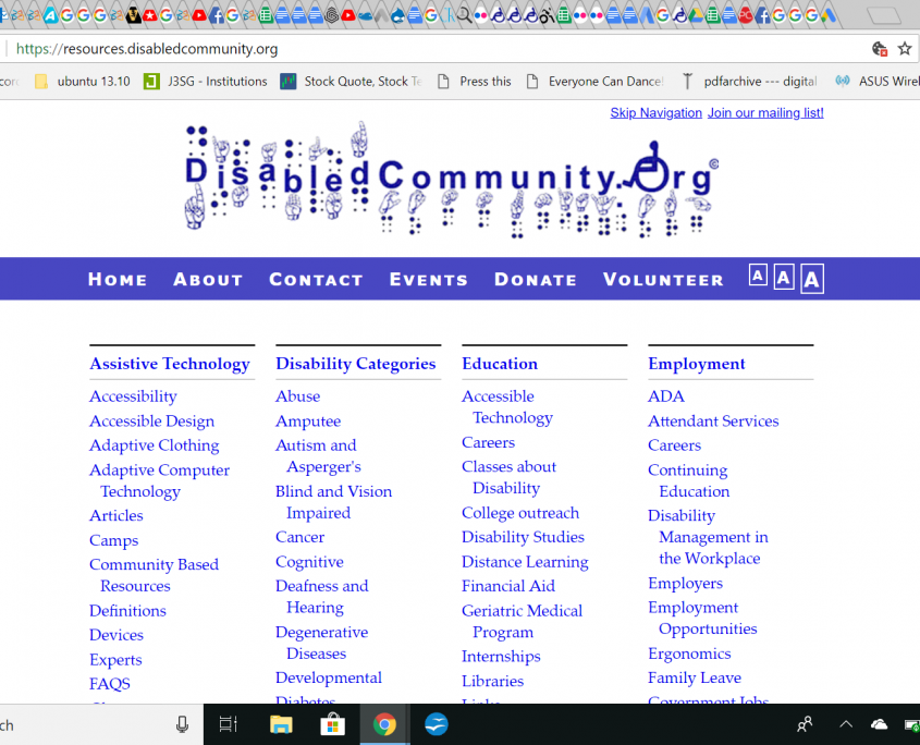 DisabledCommunity.Org Information Clearinghouse